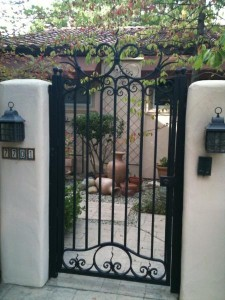 Garden And Courtyard Gates, Especially Iron Garden Gates, Make Attractive  Custom Made Metal Borders To Surround Your Home. We Specialize In  Ornamental ...